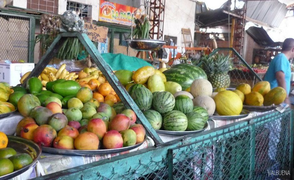 A good place to buy fruits in Cali is the Galeria Alameda