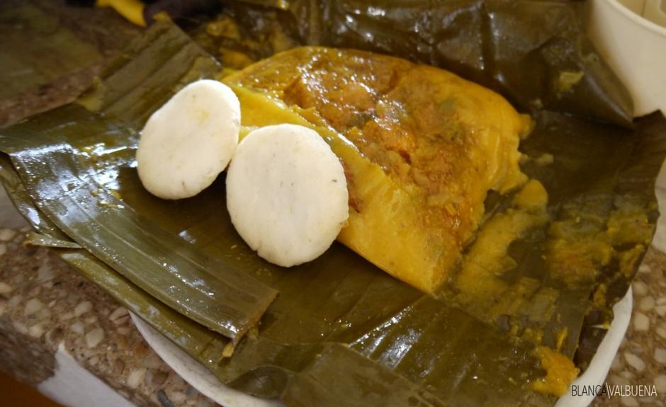 Tamales sono un piatto comune colazione a Cali Colombia