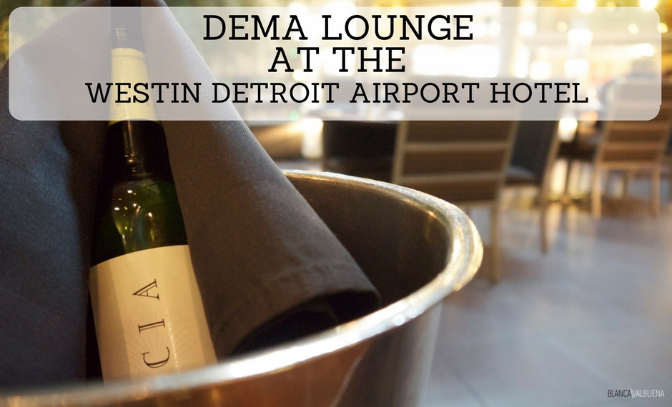 Dema Lounge is a great restaurant at Detroit Airport