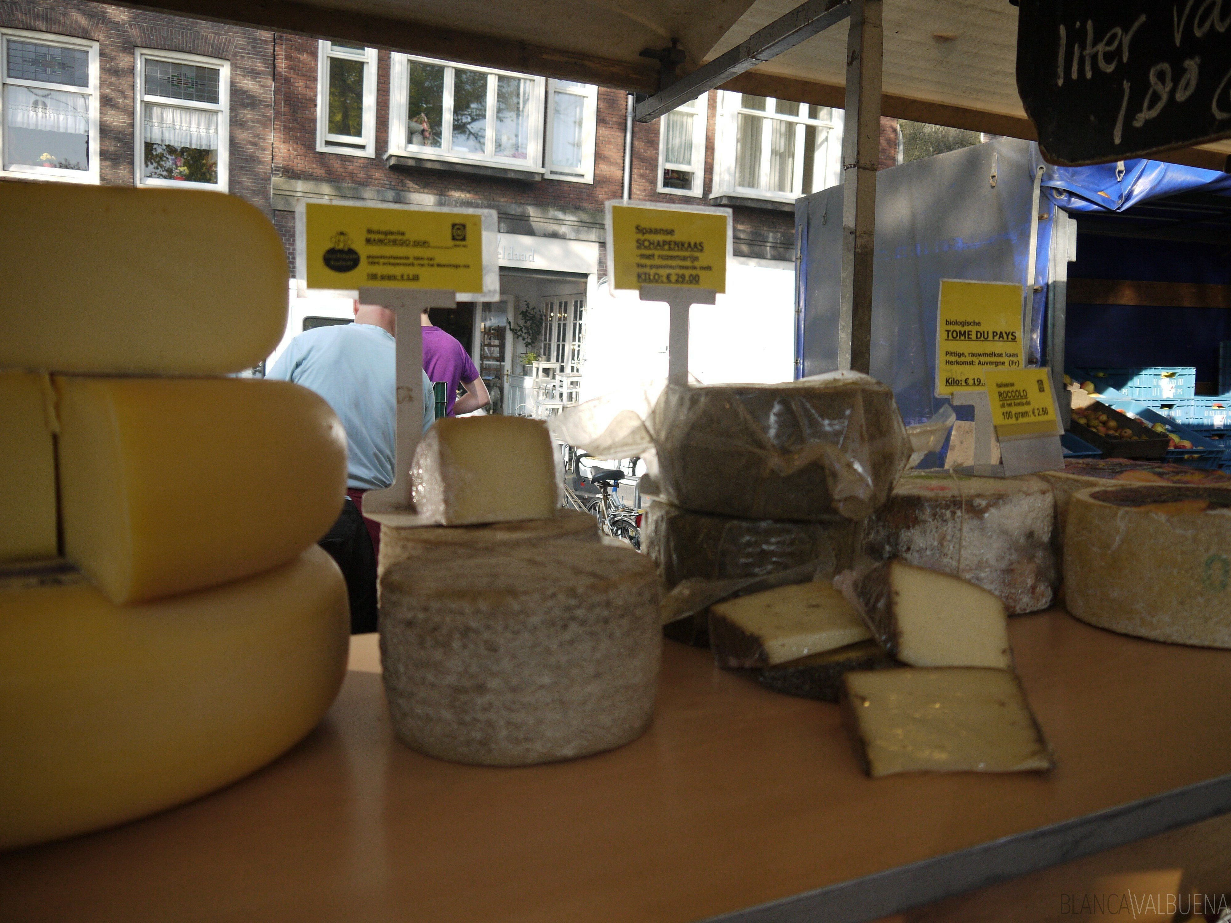 the Noordermarkt Farmers Market is a great place to buy cheese