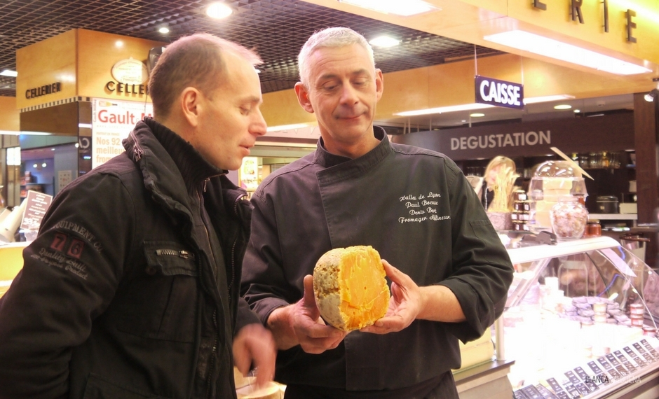 Fromagier Denis Bert of Les Halles De Paul Bocuse