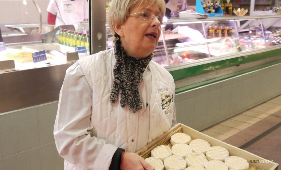 The best purveyor of Saint Marcellin cheese is at Les Halles de Paul Bocuse