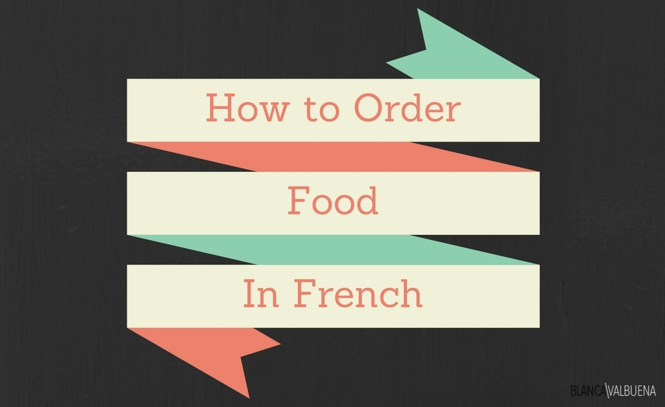 How to say basic dining phrases in French