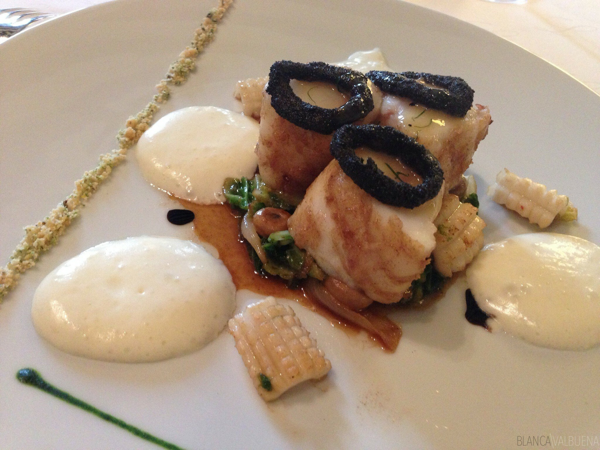 What seafood dishes look like at Maison Lameloise