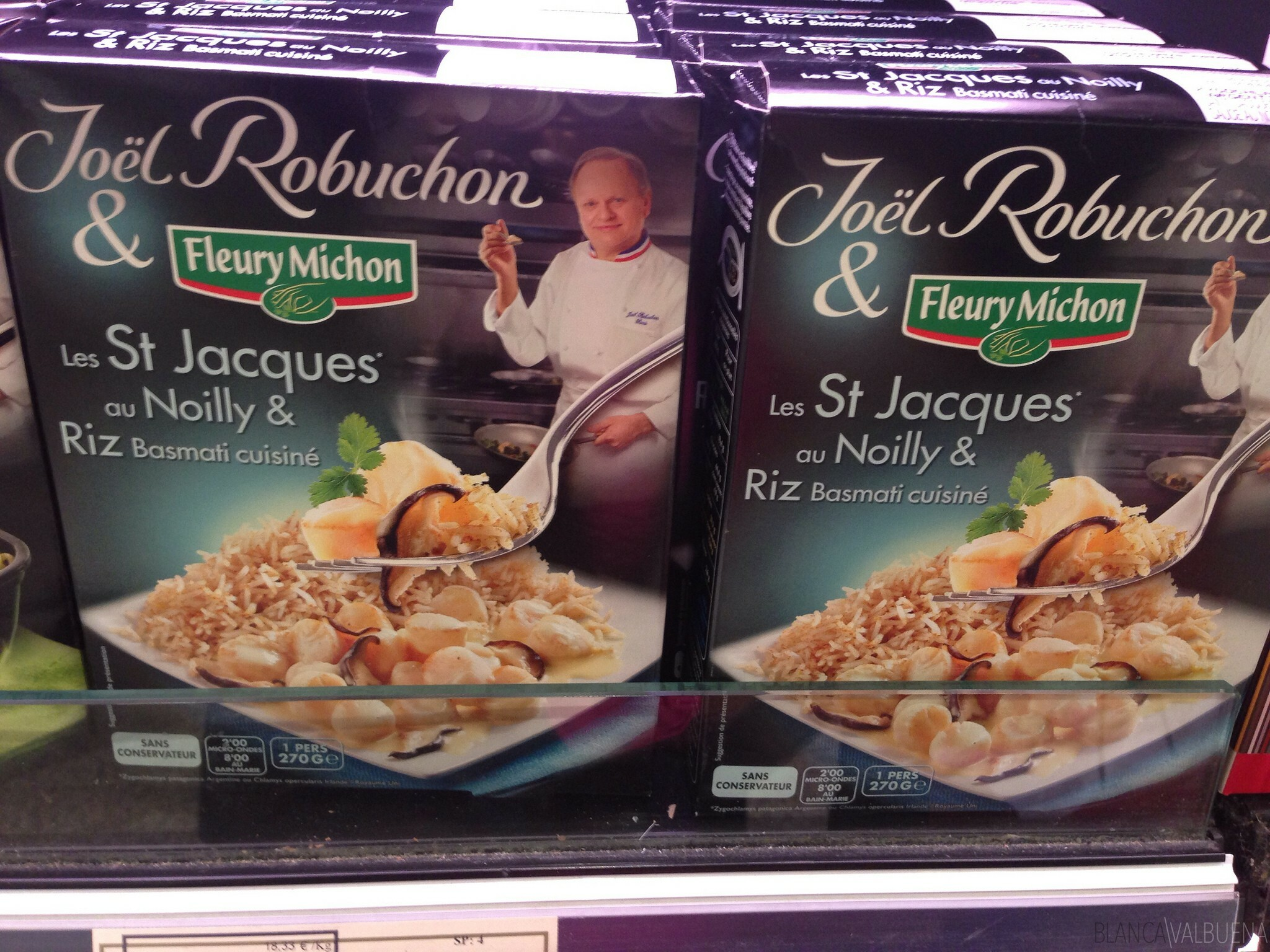 Joel Robuchon's line of frozen dishes is available at Galeries Lafayette