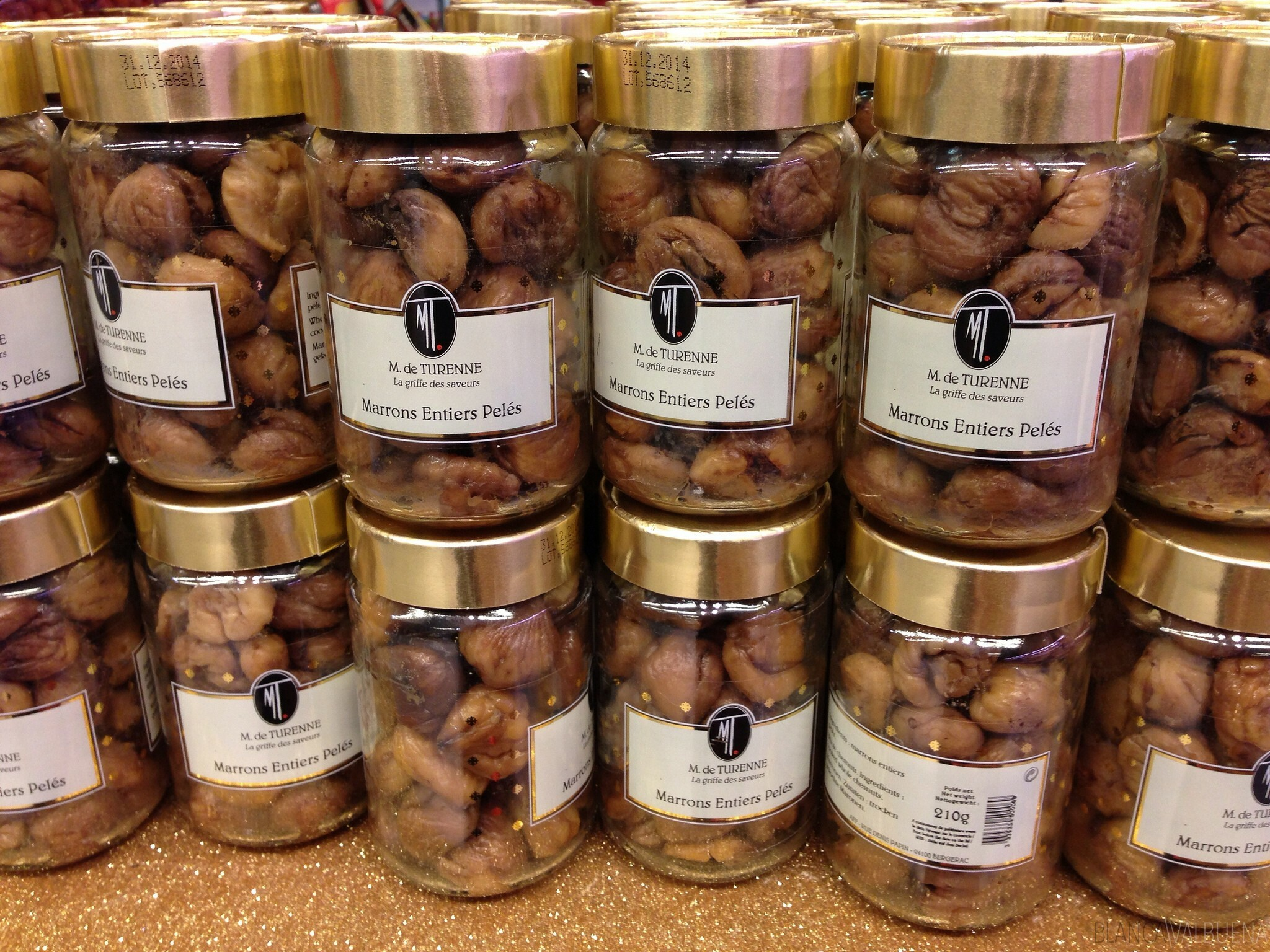You can find Peeled Chestnuts at Galeries Lafayette On Haussman in Paris
