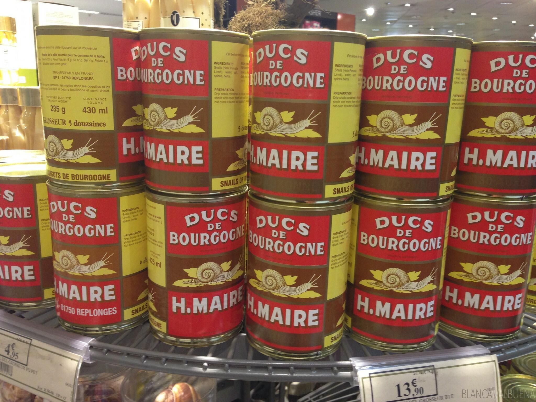 È possibile acquistare tradizionale Cucina francese come le lumache a Galeries Lafayette