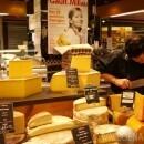 cheese at les halles in Lyon france