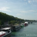 Boats on the Rhone River in Lyon France