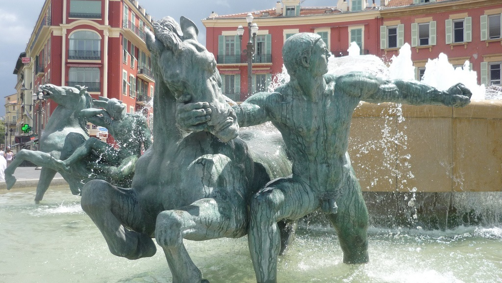The Fountain of the Sun in Nice France