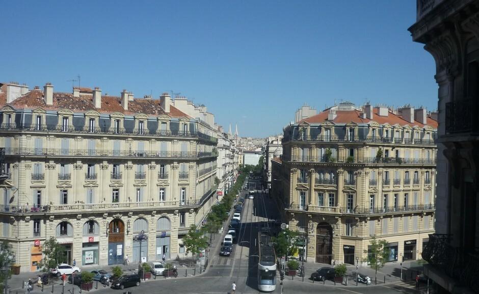 Pariser Haussmann-Stil Straße marseille
