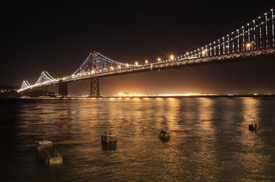 Bay Bridge Night time