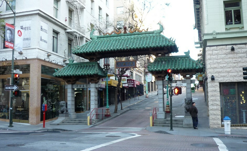 Chinatown Entrance Grant Avenue and Bush Street San Francisco