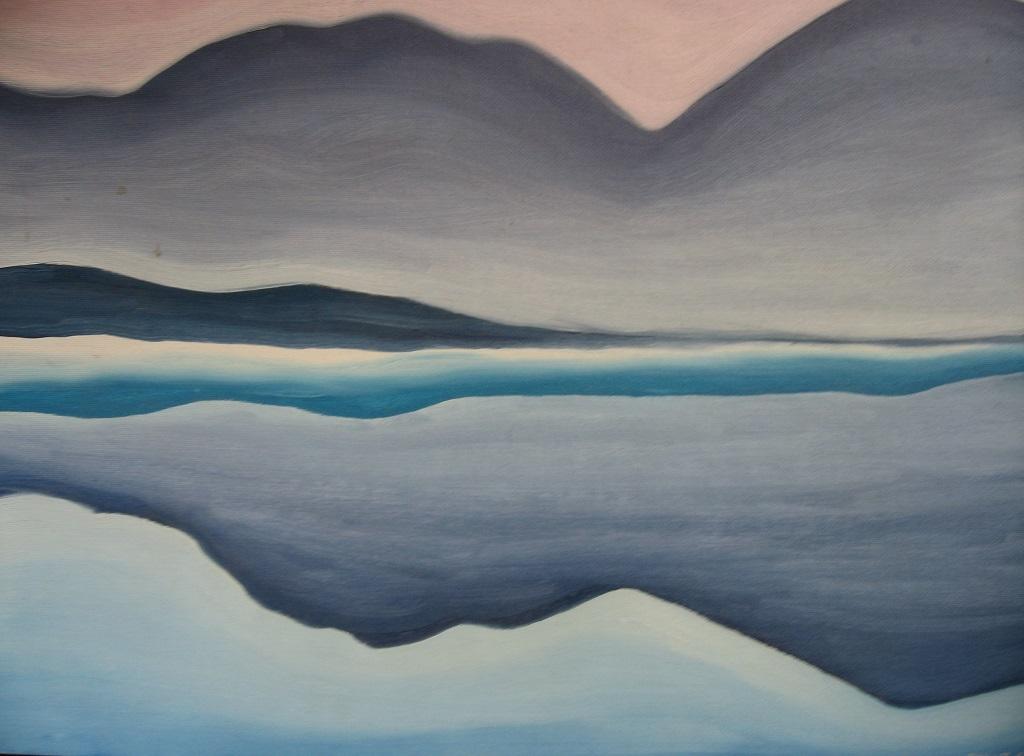 paisaje del lago George de Georgia O'Keefe