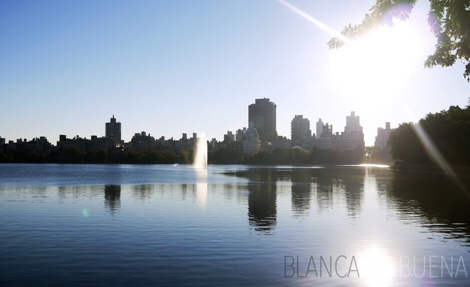 The Jackie Onassis reservoir is located in Central Park from 85th Street to 96th Street, from east to west.