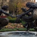 Central Park three women dancing sculpture