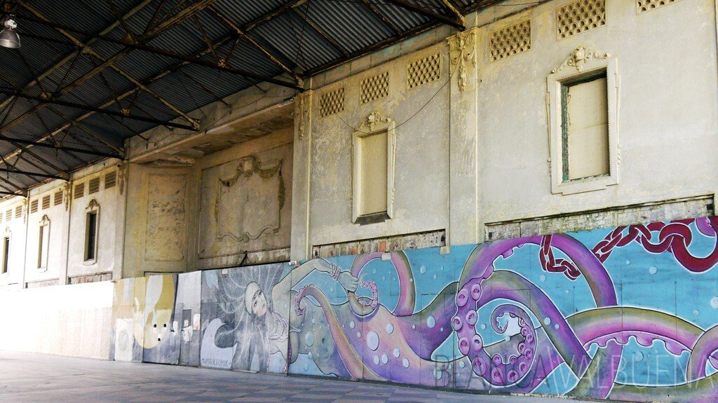 Mike La Vallee's octo woman mural in Asbury park
