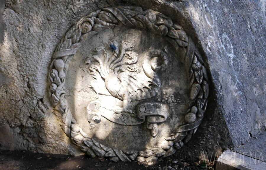 Roman Wreath Relief in Croatia