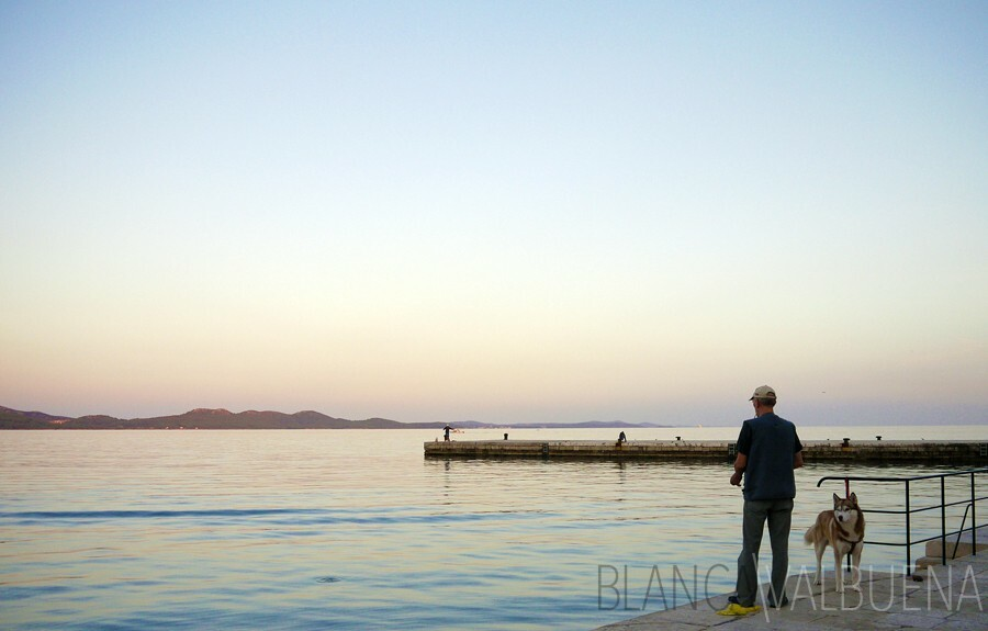 Zadar resident fishing off the Dalmatian sea