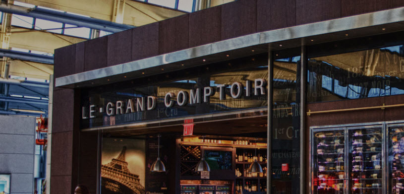 If you want a French restaurant at Newark Airport, try Le Grand Comptori