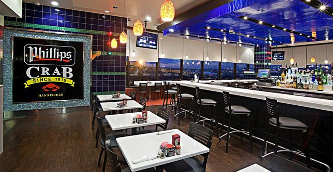 在纽瓦克机场的快速餐厅菲利普的海鲜