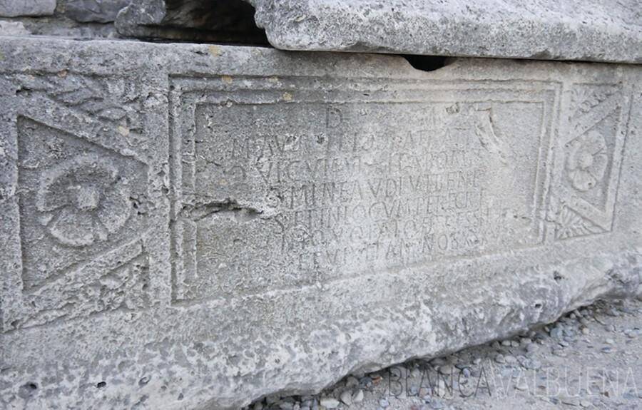 Sarcophagus in Roman Forum in Zadar