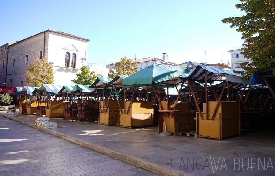 Organic farmer's market in Zadar
