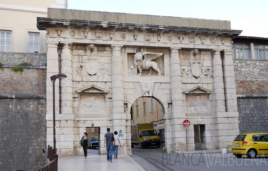 St Mark's Gate in Zadar, Hırvatistan