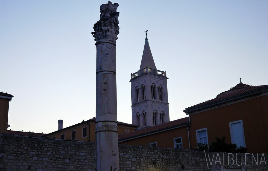 A Column stands alone in Zadar