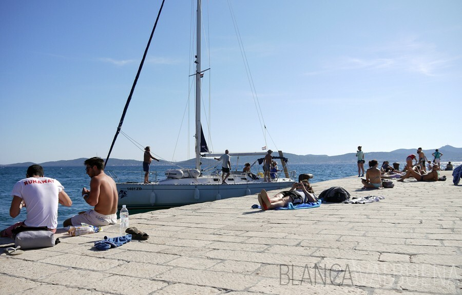 Zadar's Pier off the Roman Forum