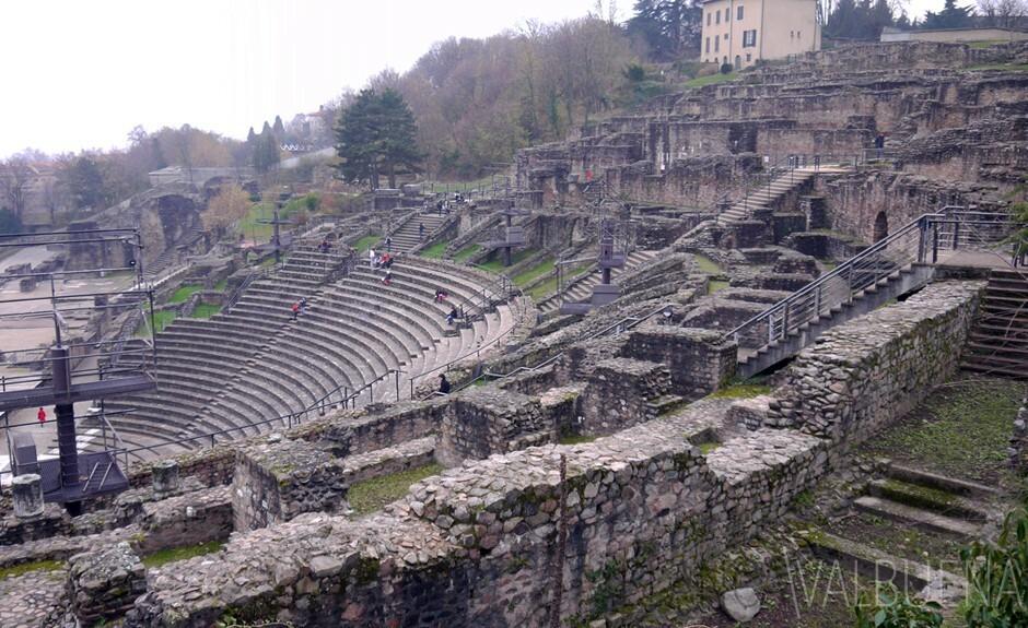 Ruines romaines à Lyon, France