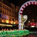 Place de La Republique at night in December