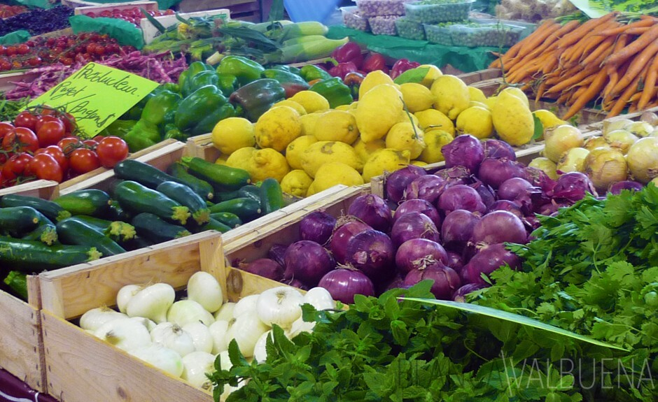 Fruits and Vegetables in Forville Market in Cannes France