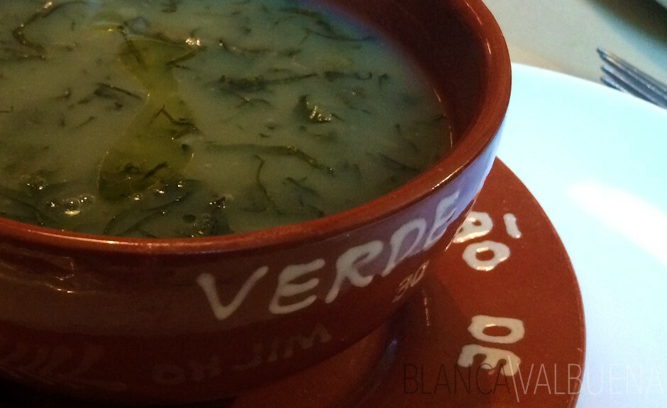 Sopa portuguesa verde