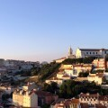 The city of Lisbon as seen from Castelo