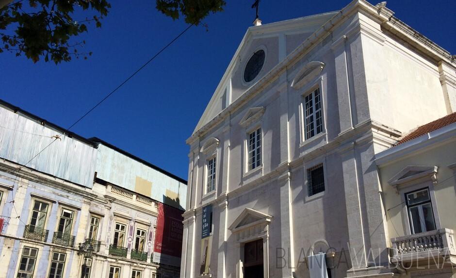 Igreja Sao Roque a Lisbona Bairro Alto Quartiere