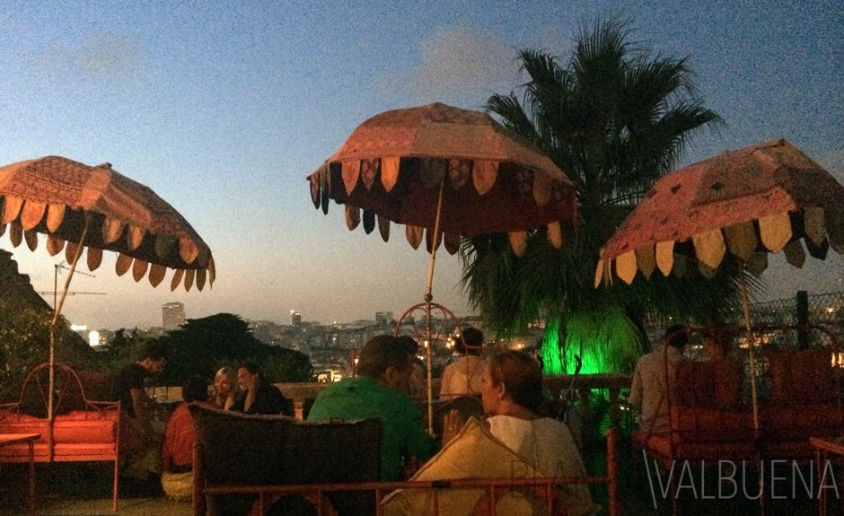 Indian Inspired outdoor bar in the Principe Real Neighborhood of Lisbon
