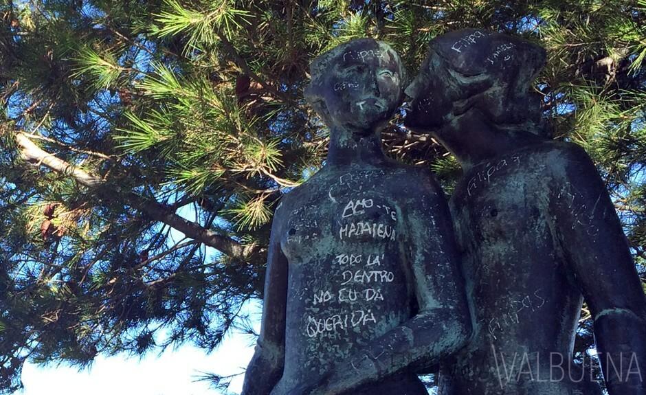在公园爱德华七世女同志雕塑