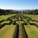Great view of the Tagus river and gardens at Parque Eduardo VII