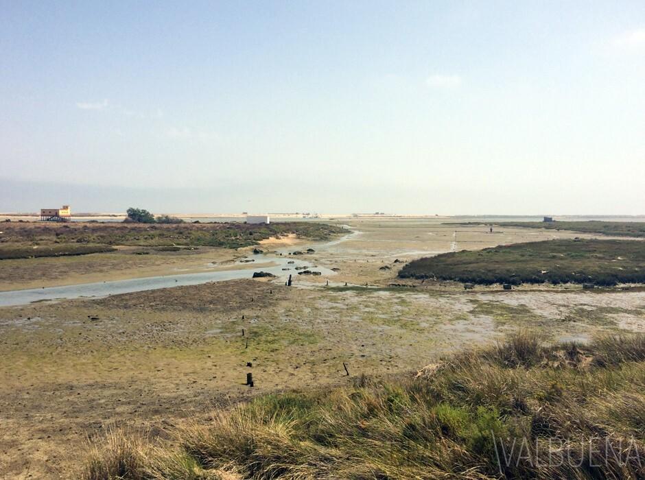 praia Fuseta na maré baixa