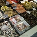 Fish available at the Mercado de San Anton in Madrid