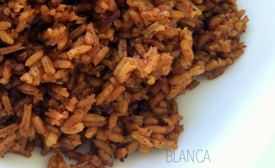 Arroz con coco is made with Panela and coconut