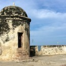 Defensive walls in Cartagena De Indias