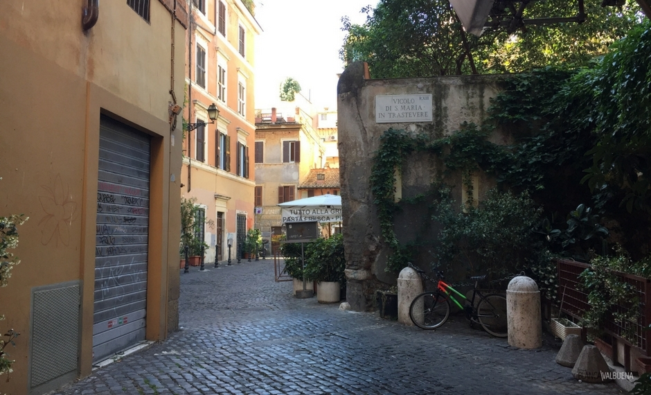 As ruas tranquilas de Trastevere