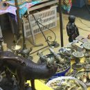 The Trastevere Flea market sells everything from antiques to knock offs to socks