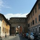 The Porta Settimiana leads from Trastevere to Rome