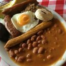 Colombian food includes Bandeja Paisa