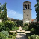 The Medieval garden at St. Lawrence in Sibenik Croatia