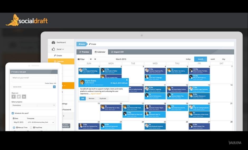 Socialdraft允许数字游牧民族从任何地方管理他们的社交媒体