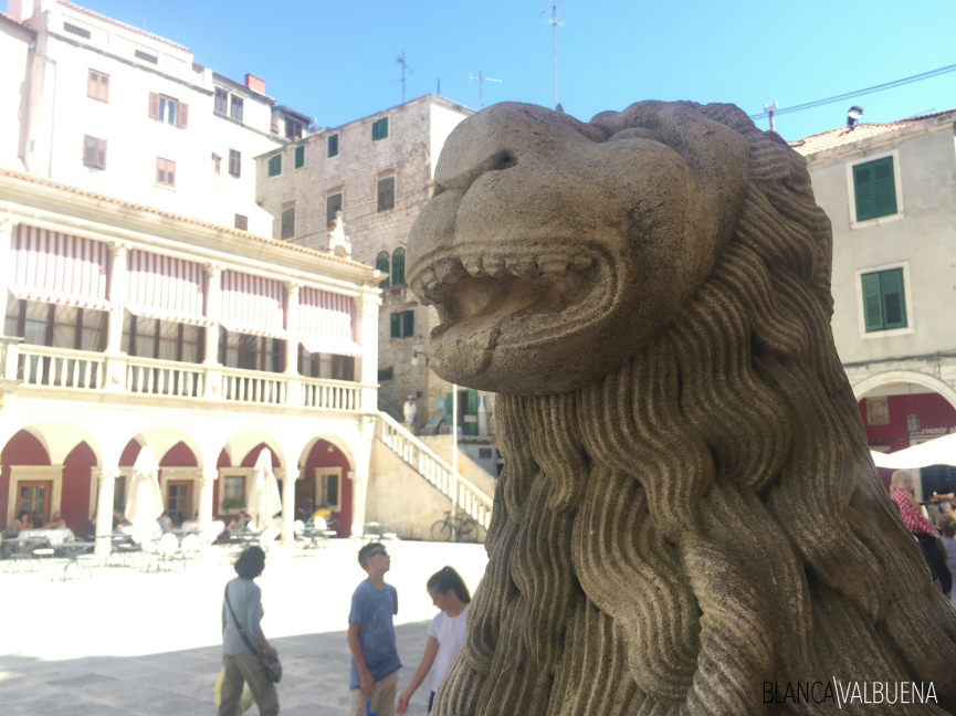 The lion, a political symbol of Venice is seen throughout Croatia, especially Sibenik